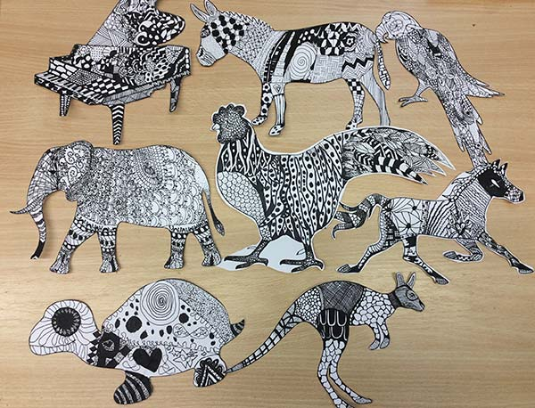 Thaxted Primary School Carnival of the Animals artwork